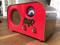 Fender valve amp, Laney amp, Gibson bag, Boss RV-3 FZ-3 pedals, Electro Harmonix