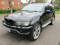 "2005 52 BMW X5 3.0 SPORT AUTO FULL MOT 5/18 HISTORY 22"" ALLOYS SAT NAV TV LEATHER CRUISE PX SWAPS"