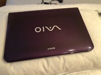 Sony i3 laptop. purple.window 7.4gb memory.2.4ghz.284gb storage.bluetooth.Fully working.CAN DELIVER