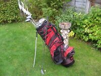 GOLF CLUBS IN BAG WITH STAND - MENS RIGHT HAND