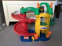 Fisher price toy car garage and cars