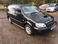 2004 KIA SEDONA SE AUTO BLACK ONLY 1 OWNER FROM NEW 7 SEATER