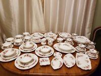 64 piece Royal Albert Lavendar Rose Dinner Service