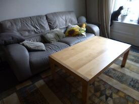 solid wood Ikea coffee table
