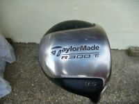 •Taylor Made R300 Ti 9.5 Driver (Tour S-90 stiff Shaft) Mens right handed club.