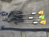 3 x fox illuminating Euro indicator carp fishing