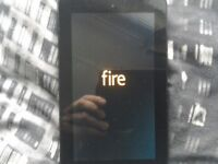 A Amazon Kindle fire tablet hardley used been in the draw