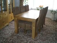 REDUCED----DINING ROOM TABLE and SIX CHAIRS