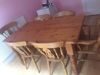 Solid wood table, slight marks but fantastic for an up cycling project!
