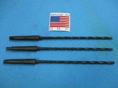 1564 High Speed 1 Morse Taper Extra Long Drill Bit U.s.a. New 3 Pcs.