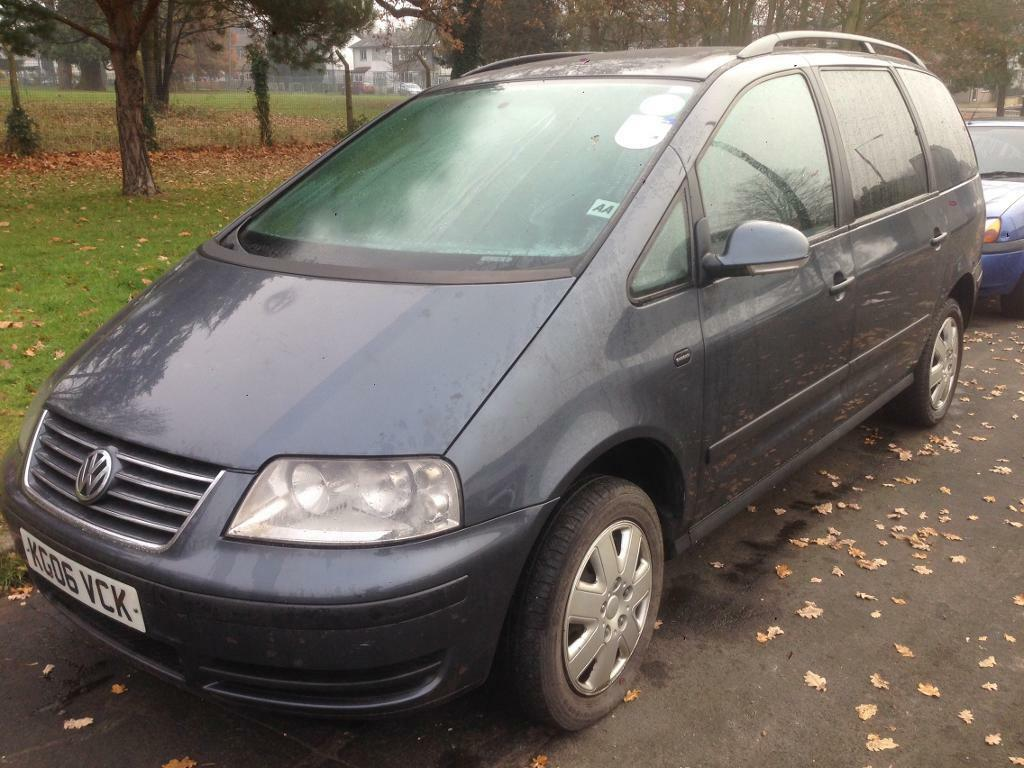 VW SHARAN 06 PLATE 1.9 TDI MANUAL DEPOSIT TAKEN