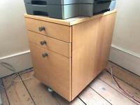 Underdesk drawers/filing cabinet