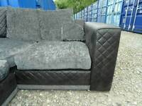 Black+Grey Corner Sofa *Delivery Available*