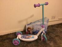 Frozen kids scooter