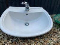 Bathroom basin with mixer tap