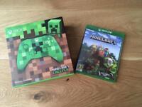 Xbox minecraft wireless controller & minecraft game