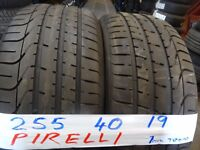 MATCHING SET 255 40 19 PIRELLI P-ZEROS 7MM TREAD £100 PAIR SUP & FITD £180 SET (loads more av}TXT S