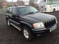 Jeep Grand Cherokee limited 2000 w reg auto petrol and gas service history mot full v5 minter £975