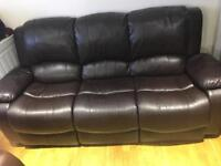 Two three seats sofas and recliner