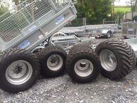 New agri trailer wheels 10.0/75-15.3 baler silage tipper