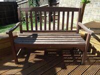 Garden bench, wooden, sturdy, £5