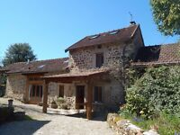 Limousin 4 Bedroom 2 bathroom semi detached farmhouse with barn, 1 mile from medieval market town.