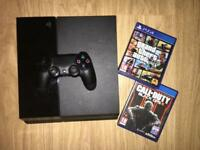 PS4 - Black 500GB With all wires