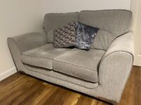 Lovely 3 seater fabric sofa grey/silver