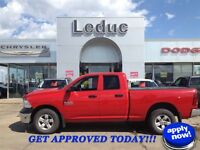 2013 RAM 1500 QUAD CAB 4X4 - NICELY EQUIPPED and APPROVED!
