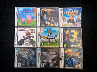 Ds mario games, mario kart - mario - pokemon etc. work in 3ds also.