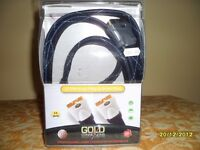 GOLD PLATED 2 METER SCART LEAD