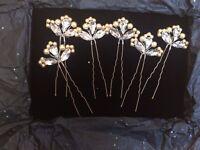 6 Vintage Style Wedding Hair Pins, Vintage Bridal Hair Pins