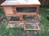 Rabbit hutch large two storey
