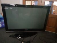 "Samsung 42"" HD Plasma Television and tv cabinet"