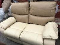 New/Ex Display LazyBoy Leather 2 Seater Recliner Sofa