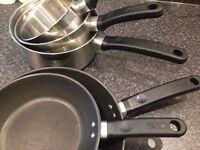 TEFAL pan / saucepan stainless steel 5 piece set