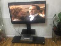 "50"" LG flatscreen tv with modern tv stand"