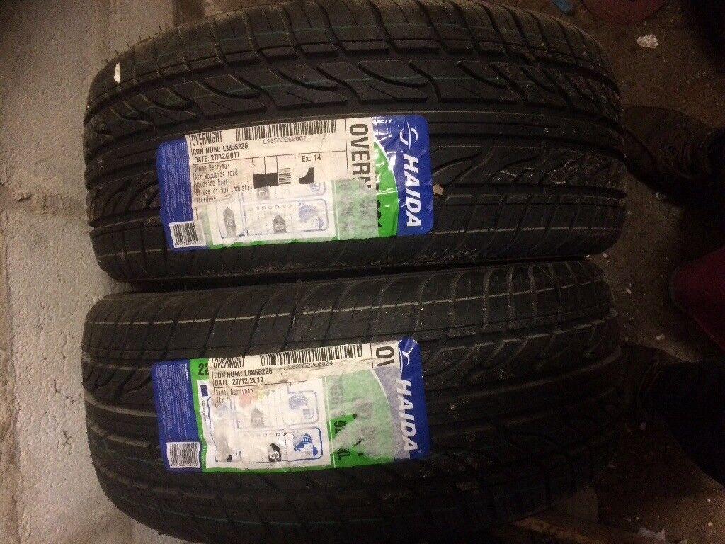 2 x 225 40 18 tyres