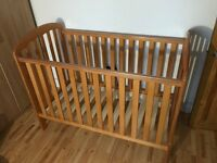 Obaby Lily Cot - Country Pine - requires 120x60 mattress