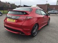 HONDA CIVIC GT-TYPE R 3DR RED IMMACULATE CAR LOW MILES XENONS FULL SERVICE HISTORY 2010