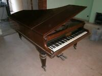 BABY GRAND PIANO JOHN BROADWOOD & SONS circ 1890 GRAND BOUDOIR FINE EXAMPLE