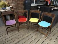 4 solid wooden Garden Chairs