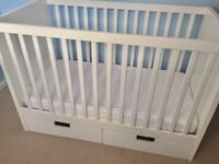 WHOLE NURSERY CHEST OF DRAWERS AND COT