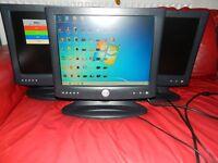 "X3 Monitor 15"" DVI and VGA Dell 1503FP WITH 2 PSU"