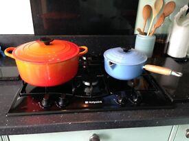 Le Crueset cast iron pans