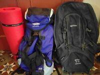 Pair of hiking rucksacks - Karrimor/Lowe Alpine - used/old but working! £25
