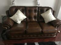 3&2 real leather sofa