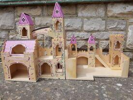 Princess wooden castle
