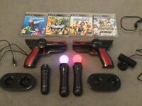 Ps4 & ps3 motion controllers x 2 plus extras