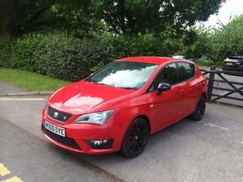 SEAT IBIZA FR RED BLACK EDITION 1.4 TSI 2014 64REG CAT D 5 DR 15,000 MILES ONLY EXCELLENT CONDITION
